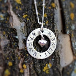 Graduate Latitude/Longitude Necklace