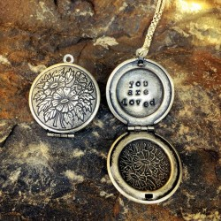 Antique Silver Round Locket