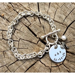 "Toggle Bracelet with 7/8"" Disc"